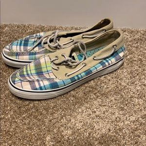 Women's Sperry Top-sider plaid boat shoe